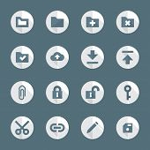 flat style various file actions icons set