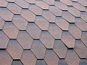 Roof Covered With Brown Tile, Tiled Construction