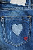 pocket with a heart
