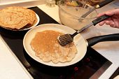 foto of flaxseeds  - Preparation of flaxseed meal pancake at home