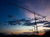 Silhouette of an antenna