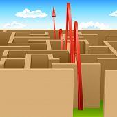picture of maze  - Complex maze - JPG