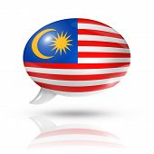 Malaysian Flag Speech Bubble