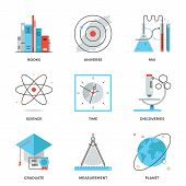 Science And Discovery Line Icons Set