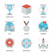 Leadership Elements Line Icons Set