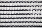 Black and white textile texture