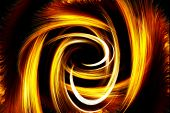 picture of fieri  - Beautiful bstract fiery circle on a black background - JPG