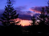 pic of burlington  - stunning pacific northwest sunset as seen from atop Burlington Hill - JPG