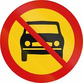 foto of motor vehicles  - Icelandic sign prohibiting thoroughfare for all motor vehicles - JPG