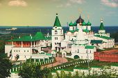 pic of ascension  - Pechersky Ascension Monastery in Nizhny Novgorod Russia in summer - JPG