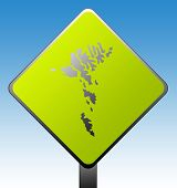 Faroe Islands Road Sign