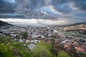 picture of trinity  - Aerial view on Tbilisi with Holy Trinity Cathedral right side - JPG