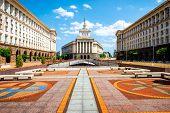 foto of neo-classic  - An architectural ensemble of three Socialist Classicism edifices in central Sofia - JPG
