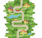 Постер, плакат: Flat Design Vector Illustration Concept of Ecology