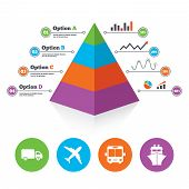 stock photo of ship  - Pyramid chart template - JPG