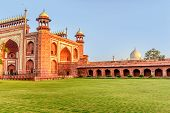 picture of india gate  - Gate in Taj Mahal India on the bright day - JPG
