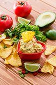 pic of cilantro  - Guacamole with avocado - JPG