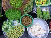 stock photo of yangon  - Various vegetables at vegetable market in Yangon Myanmar - JPG
