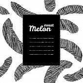 stock photo of melon  - Text frame with melon background - JPG