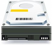 picture of latency  - Hard drive illustration on a white background - JPG