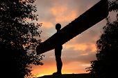The Angel of the North at Sunset, Newcastle, Tyne and Wear