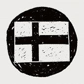 picture of sweden flag  - Sweden Flag Doodle - JPG