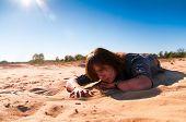 Girl Playing With Sand 2