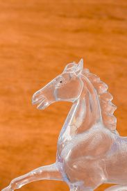 picture of workhorses  - Horse made of glass on the background - JPG