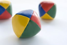 image of juggling  - Three Juggling Balls - JPG