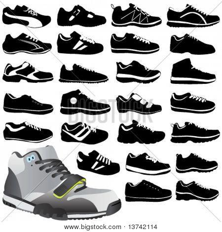 Постер, плакат: Обувь спортивная Мода, холст на подрамнике