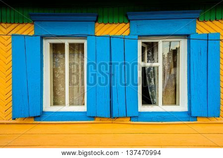 Two Hand Painted Window Frames