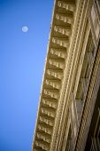 Architectural Detail With Moon