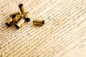Bullet Casings On Bill Of Rights