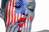 picture of american flags  - The woman - JPG