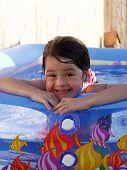 Children Silly Swim Girl