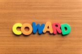 Coward Colorful Word poster