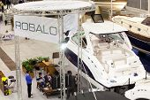 Robalo Boats Stand At Big Blue Expo Sea Show, Rome 2011