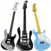guitars vector 1