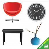 modern furniture 2 vector