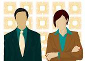 vector de hombre y mujer de negocios