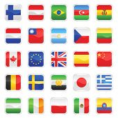 set of flags vector 1