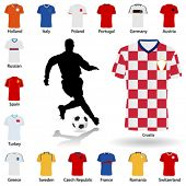 euro 2008 soccer uniform vector