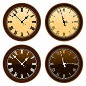 classic wall clock vector