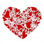 corações dentro vetor do coração