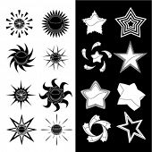 star and sun symbols