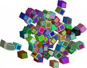 3-D boxes vector design