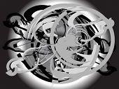 A abstract vector design