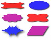 Some signs or banners in vector format.