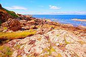 La orilla del mar en Ayrshire, Escocia