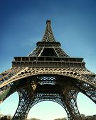 Eiffel Tower With Wide Angle View Hd Pict